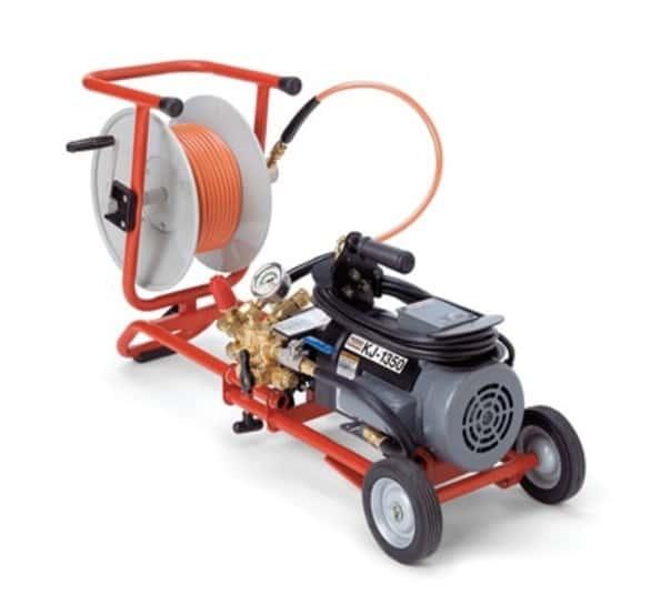 Dụng cụ thông tắc bằng máy, ống áp suất nước